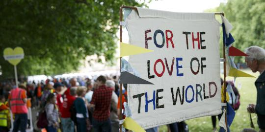 Banner bei einer Aktion in London gegen den Klimawandel. © John Phillips