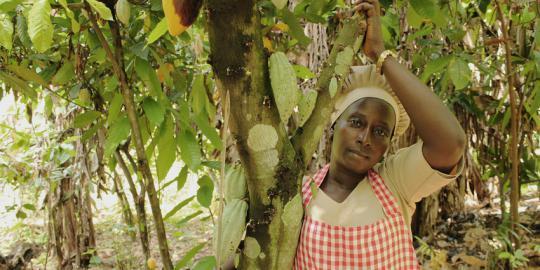 Fausat Yusuf auf ihrer Farm (Foto: Charles Okereke/ Oxfam Novib)