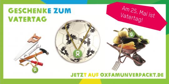 Bei OxfamUnverpackt.de findest Du garantiert das passende Geschenk für Deinen Papa © Oxfam Deutschland