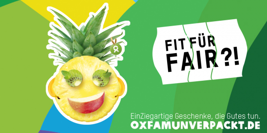 Jetzt neu auf OxfamUnverpackt.de: FAIRrückte Früchte, die Gutes tun! © Oxfam Deutschland e.V.