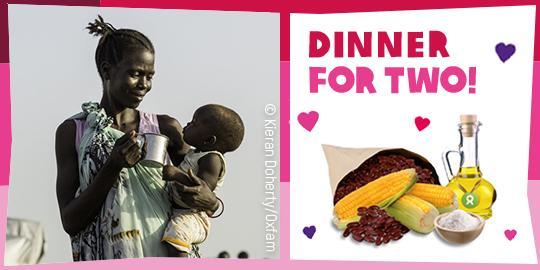 Mit Geschenken wie einem Nahrungspaket von OxfamUnverpackt kannst Du beispielsweise Menschen im Südsudan unterstützen.