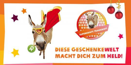 Unser Superheld des Tages: Der Esel mit seiner Superkraft, der Tragkraft! © Oxfam