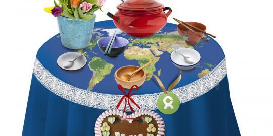 """""""Ein gedeckter Tisch"""" von OxfamUnverpackt zum Muttertag."""